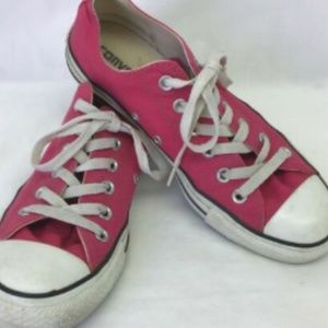 CONVERSE ALL STARS Shoes Pink Low Top Sneakers 8